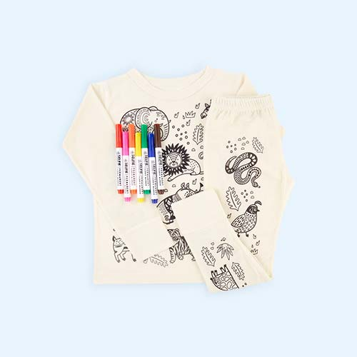 Jungle Selfie Clothing Co Colour-In Pyjamas 3-4 years
