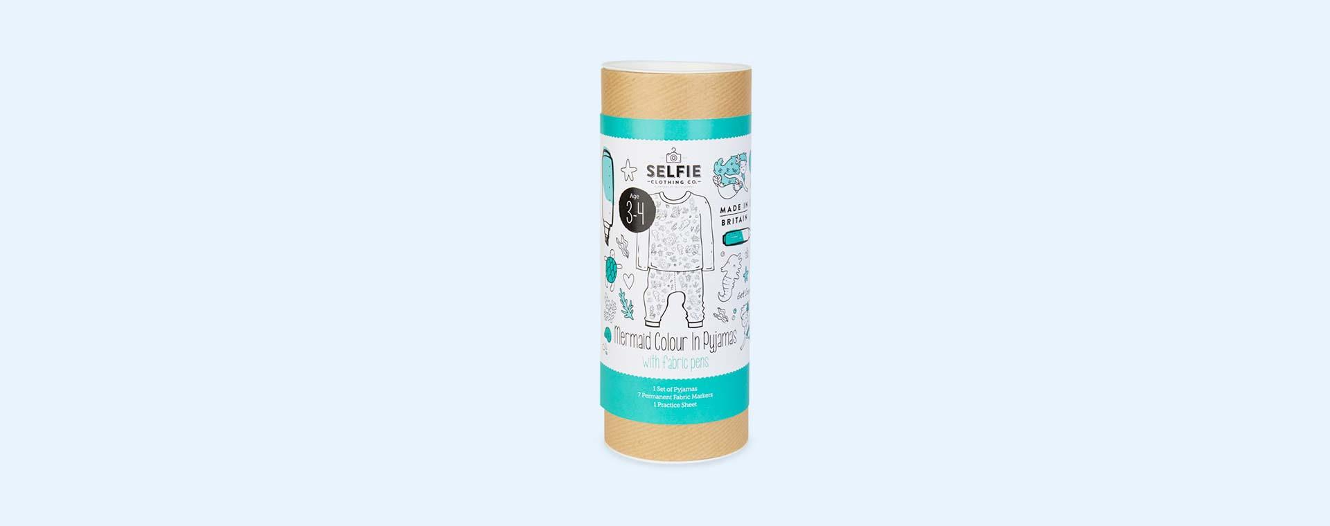 Mermaid Selfie Clothing Co Colour-In Pyjamas 3-4 years