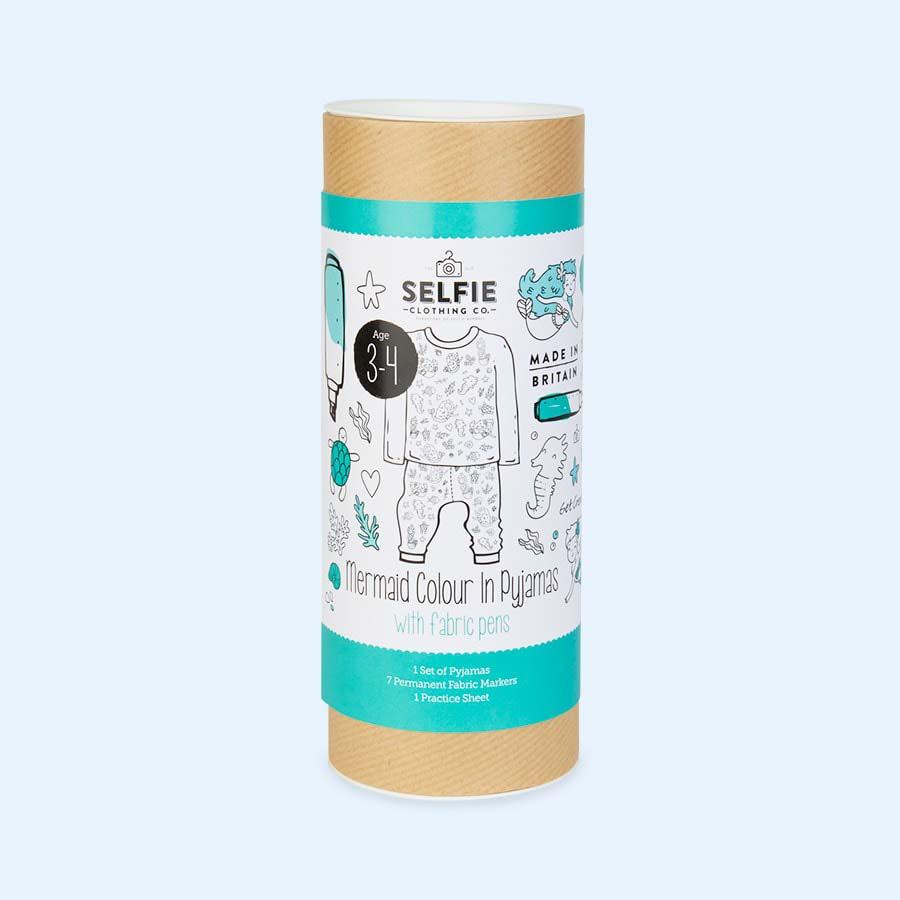 Space Colour In Pyjamas Creative Gift Kit Kids Pajamas by Selfie Clothing Co.