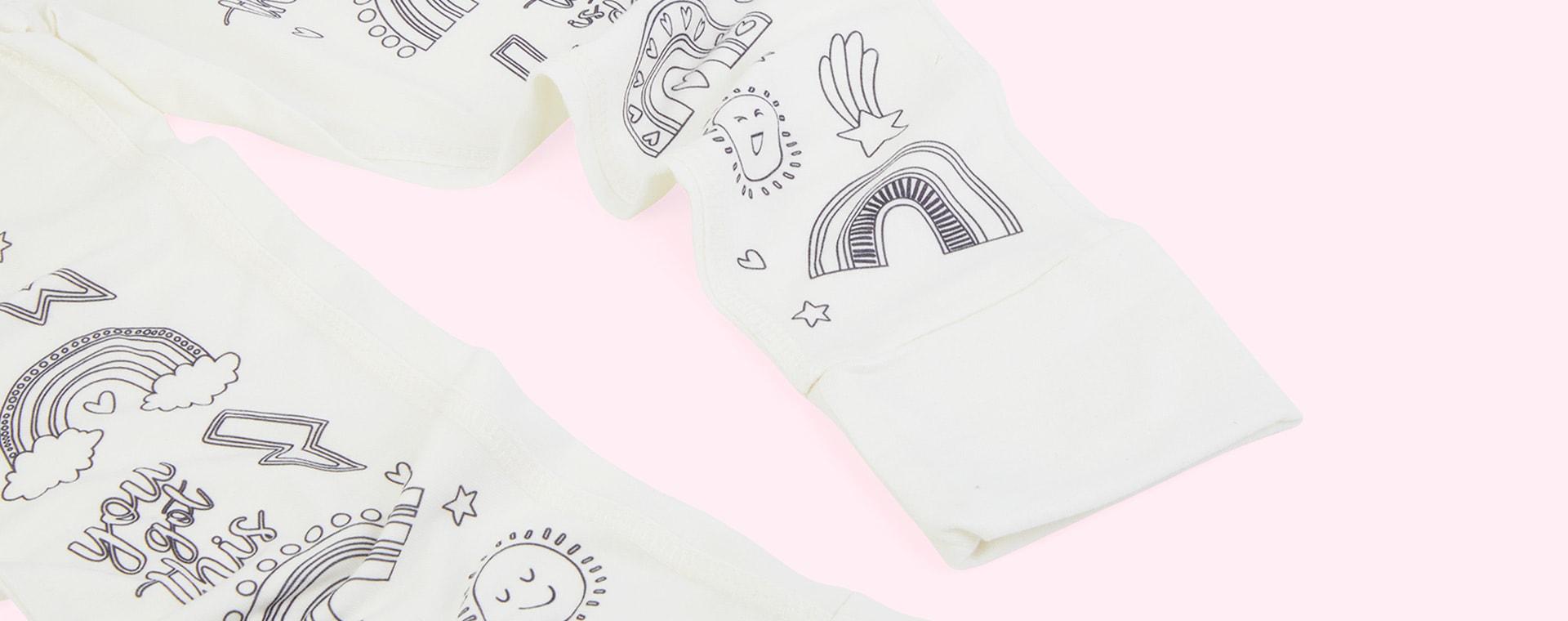 Positivity Powers Selfie Craft Co Colour-In Pyjamas
