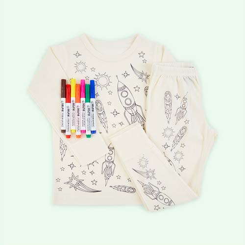Space Selfie Clothing Co Colour-In Pyjamas 3-4 years