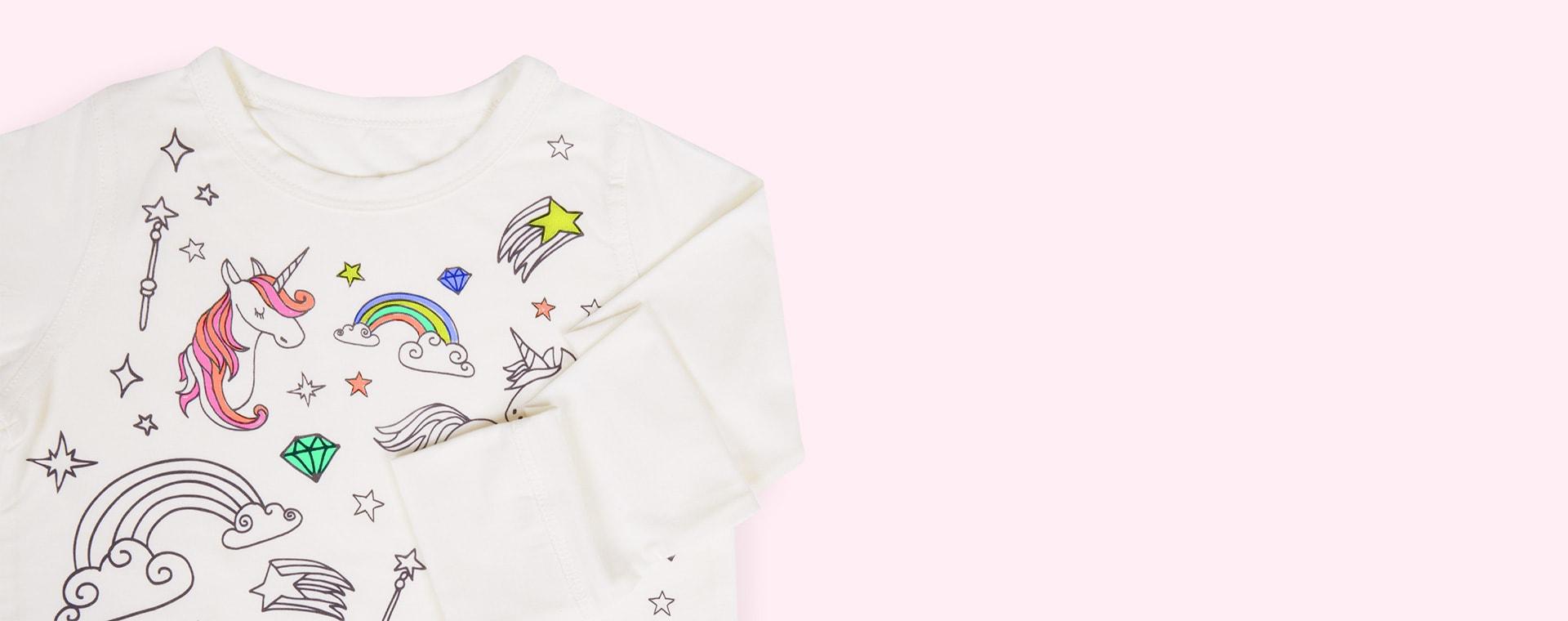 Unicorn Selfie Craft Co Colour-In Pyjamas