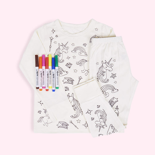 Unicorn Selfie Craft Co Colour-In Pyjamas