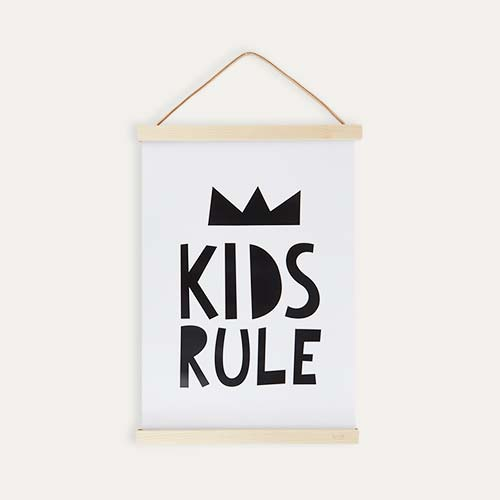 White Mini Learners Kids Rule Poster