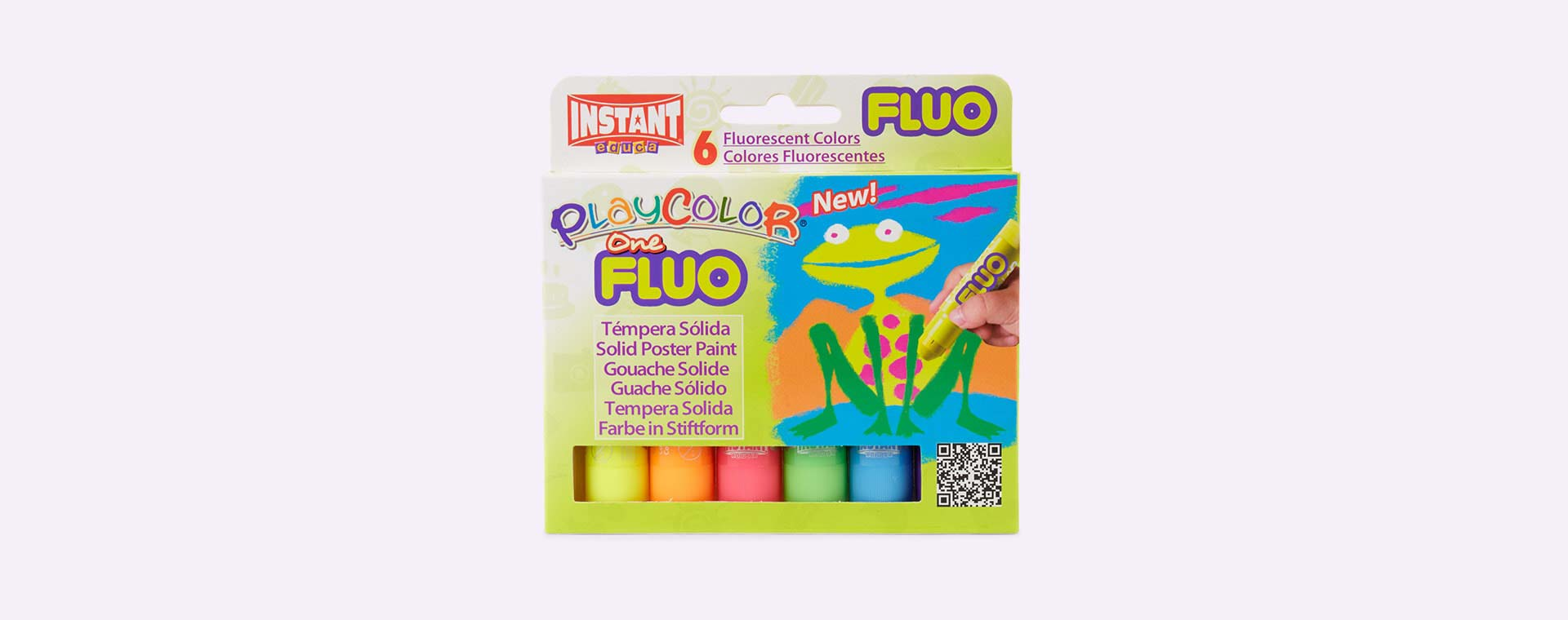Fluo Playcolor Solid Poster Paint Sticks - 6 Pack
