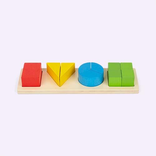 Multi Bigjigs Shape Fraction Board Puzzle
