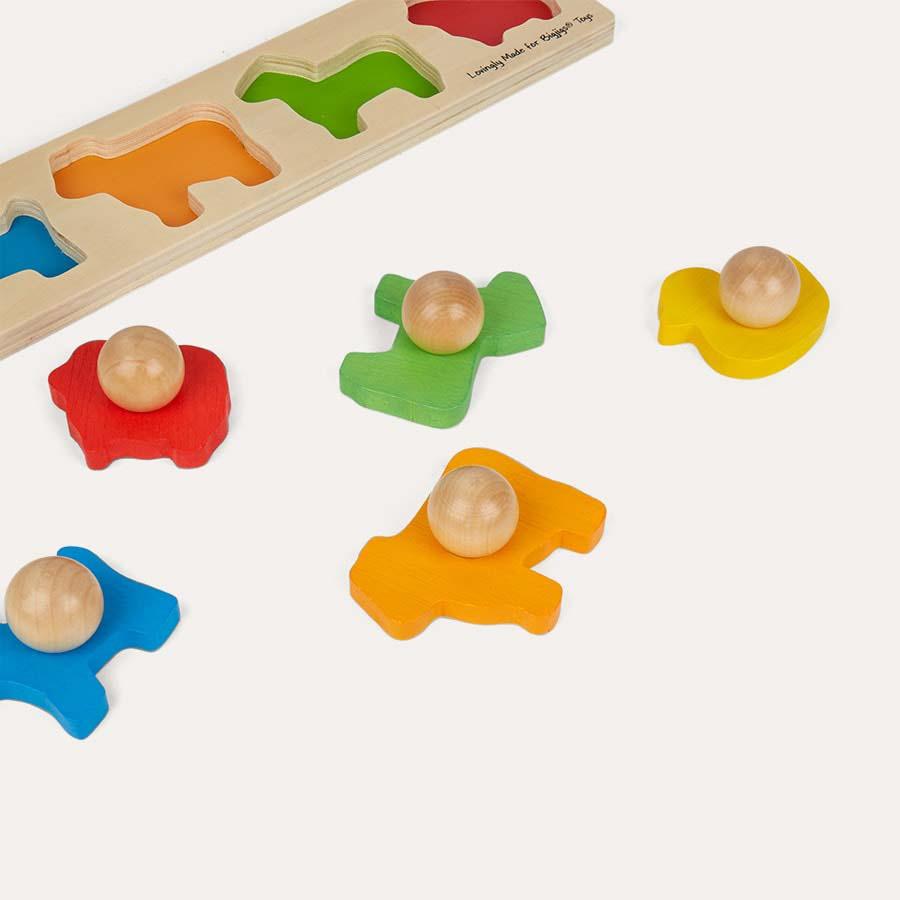 Multi Bigjigs Animal Matching Peg Puzzle