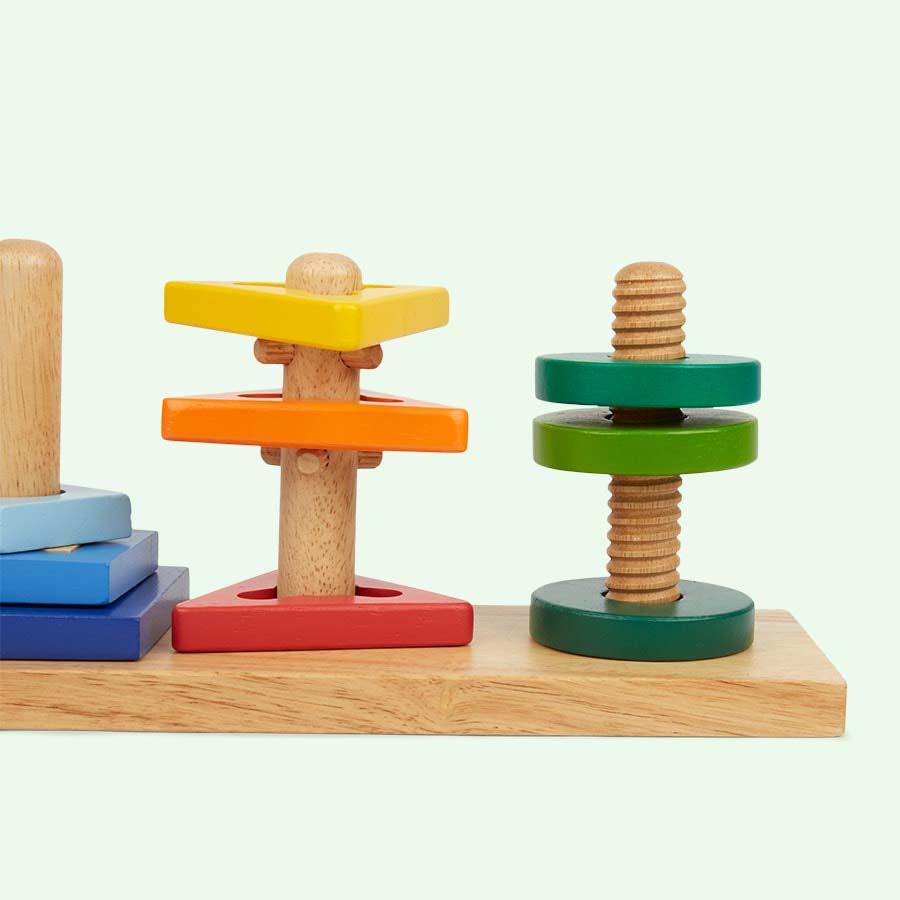 Multi Bigjigs Twist & Turn Puzzle Board