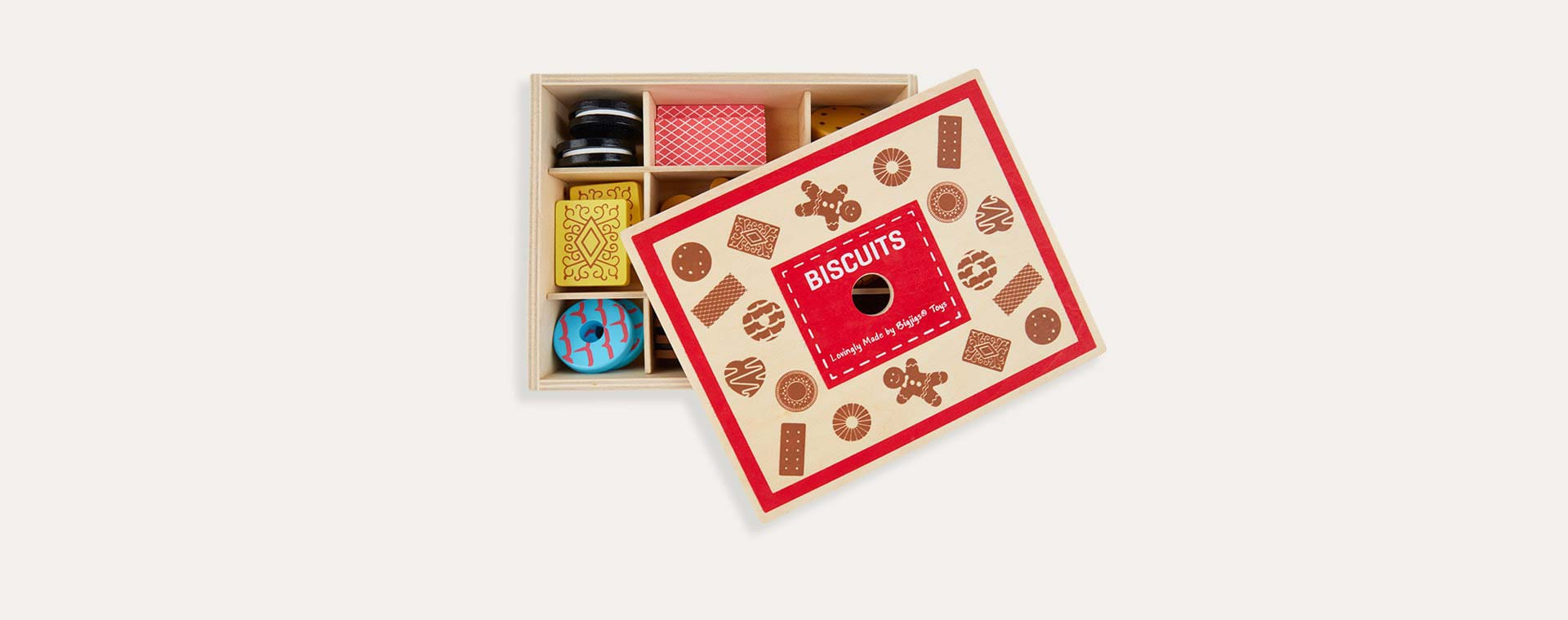 Multi Bigjigs Wooden Box of Biscuits