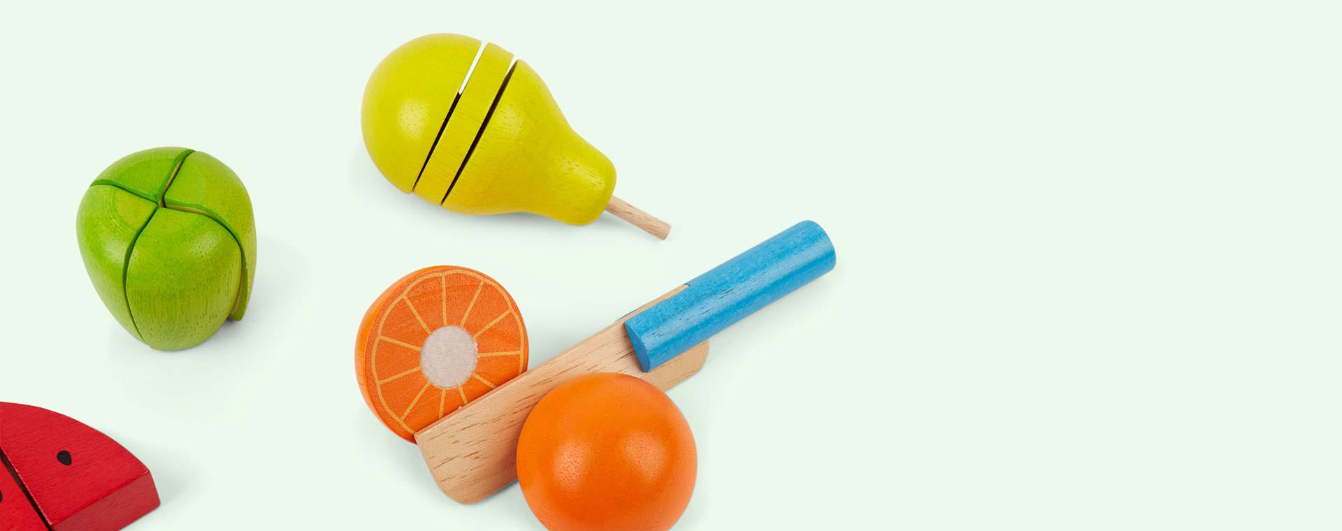 Multi Bigjigs Cutting Fruit Chef Set