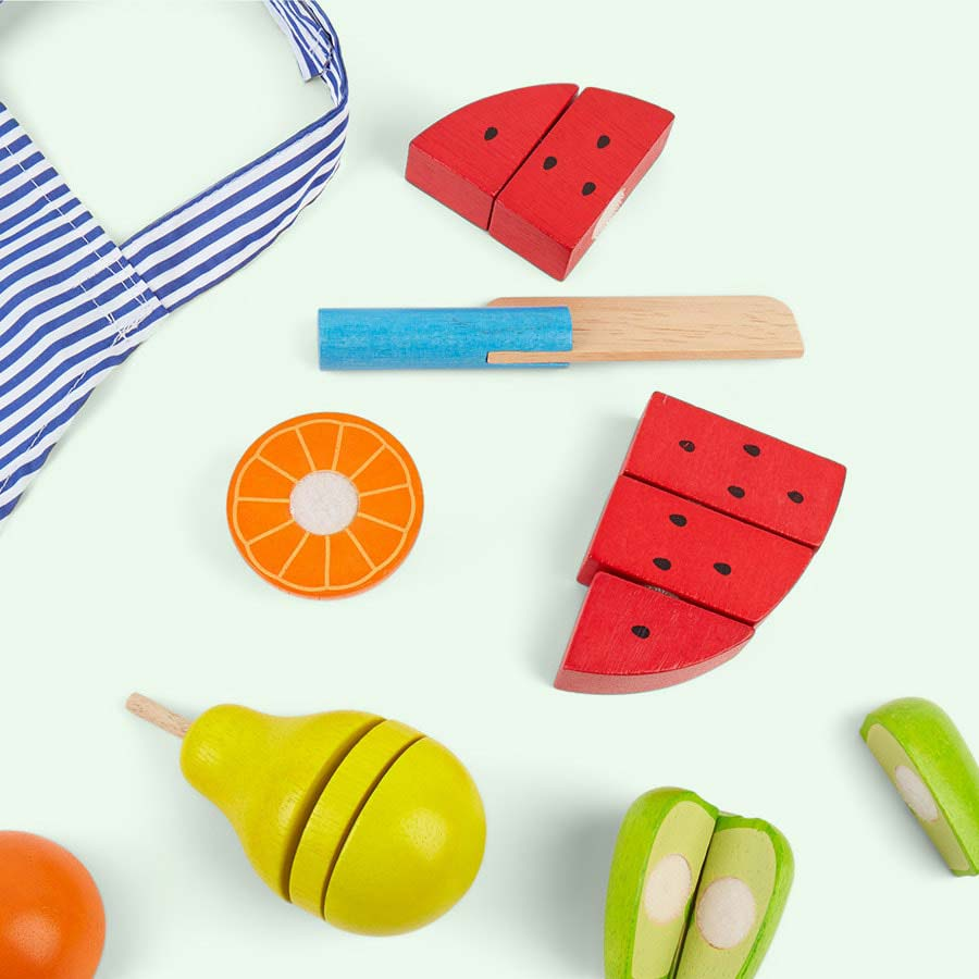 Multi Bigjigs Cutting Fruit Chef Set