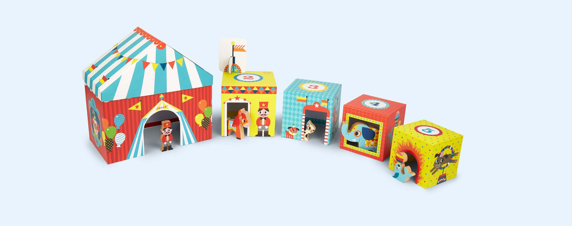 Circus Janod Multikub Stacking & Sorting Blocks