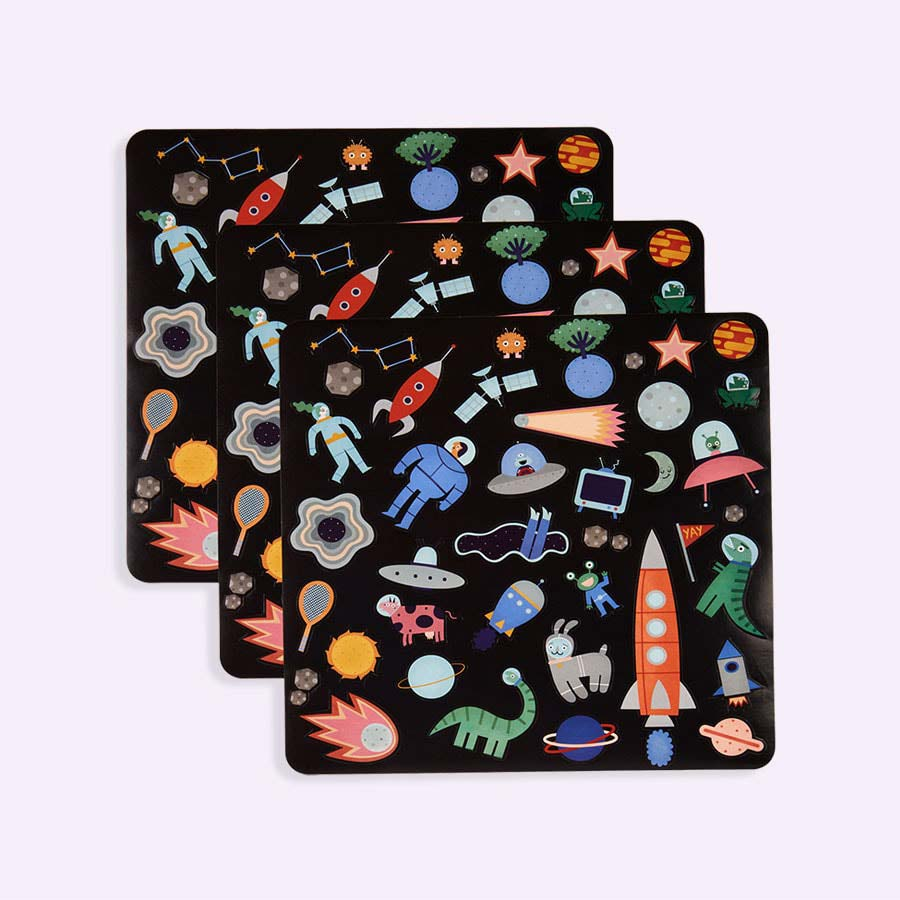 Space Olli Ella Playpa Stickers