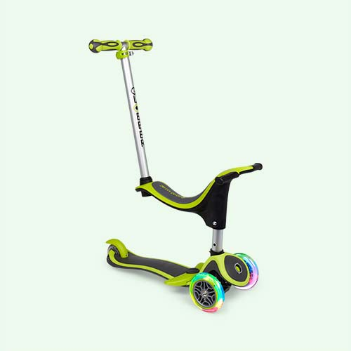 Lime Green Globber My Free 4-in-1 Scooter Plus Light