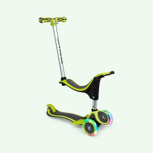 Lime Green Globber Evo 4-in-1 Scooter Plus Light