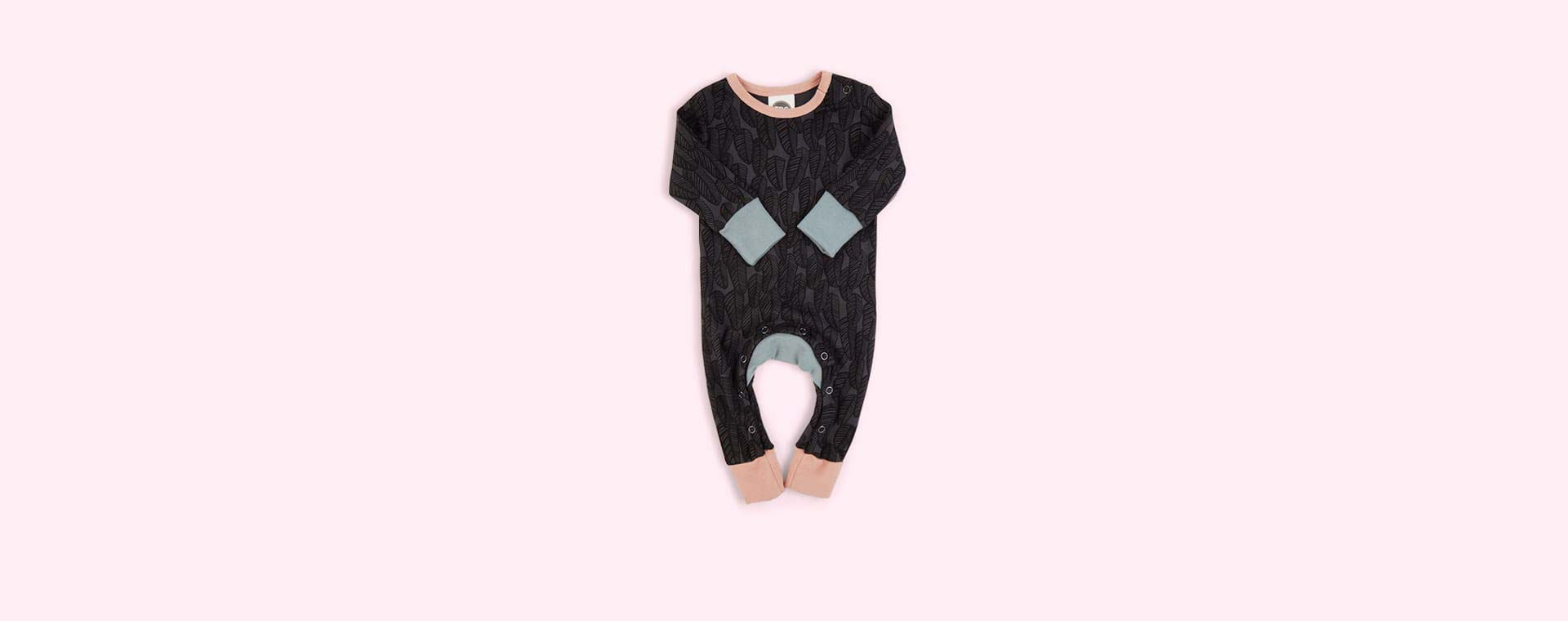 Feathers Midnight The Bright Company Monty Sleepsuit