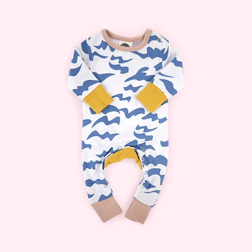 Waves The Bright Company Monty Sleepsuit