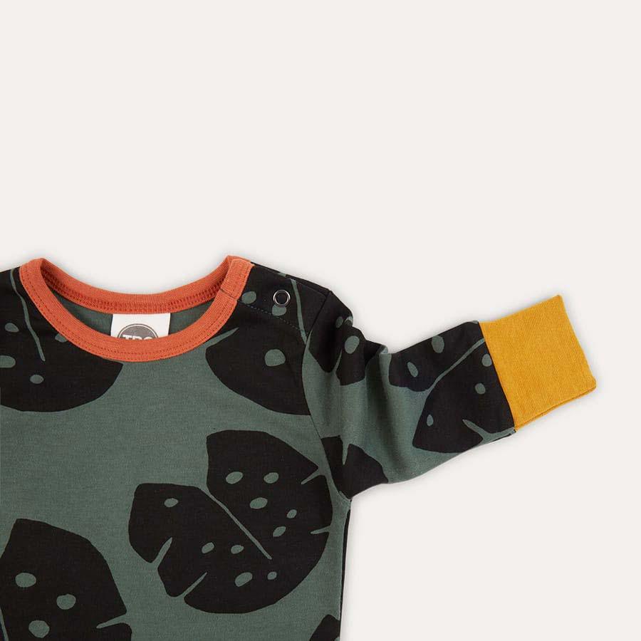 Monstera Forrest The Bright Company Monty Sleepsuit