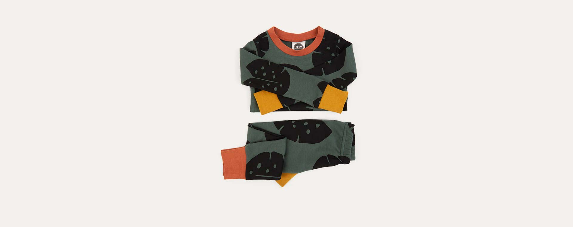 Monstera Forrest The Bright Company Slim Jyms Pyjamas