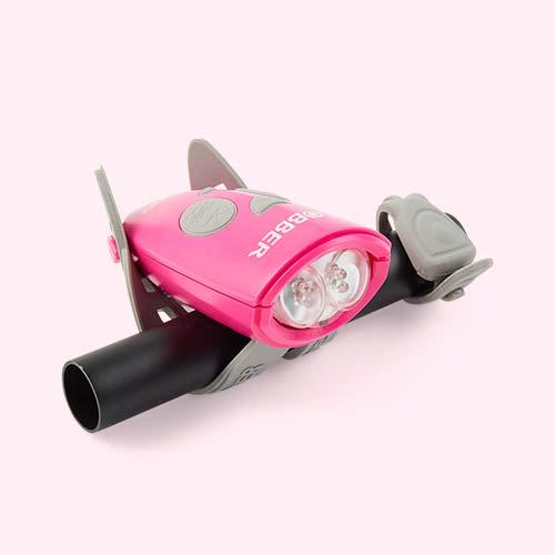 Deep Pink Globber Mini Hornit Bike Light