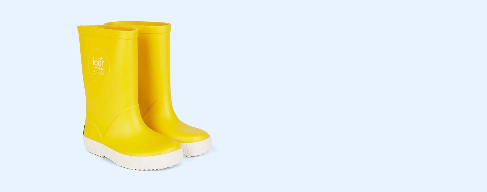 Yellow igor Splash Nautico Wellies
