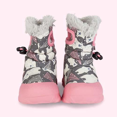 Dk Grey Bears Bogs B Moc Bears Snow Boots