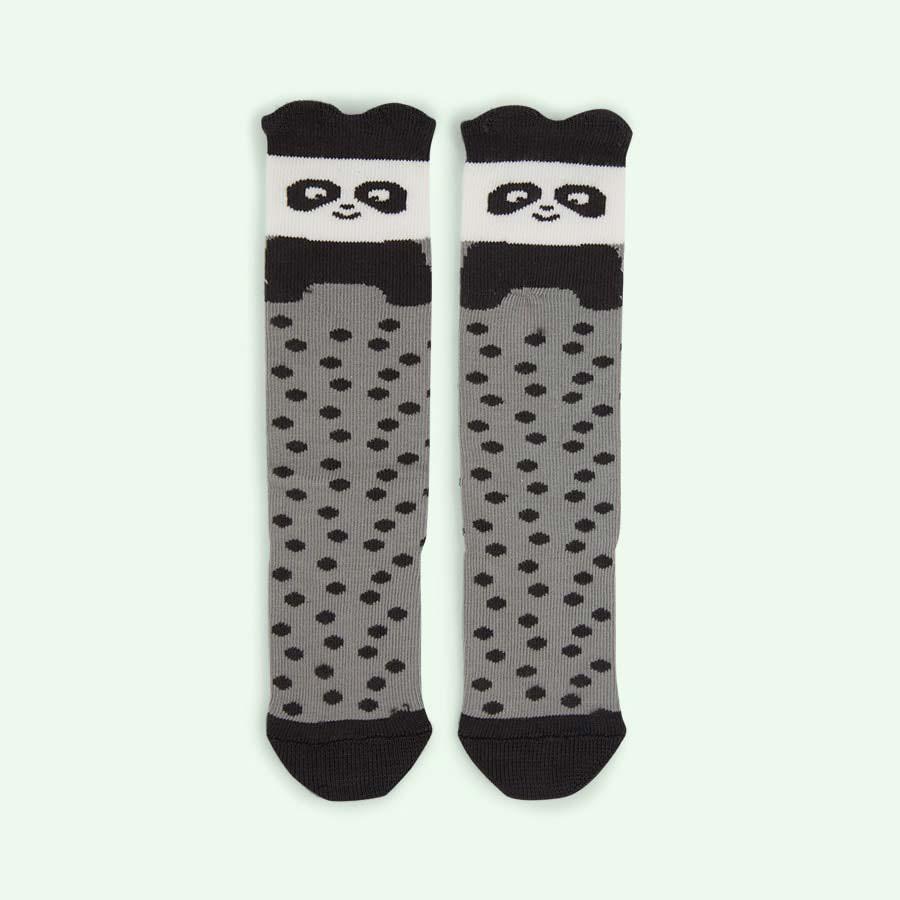 Grey The Bonnie Mob Knee Length Panda Socks