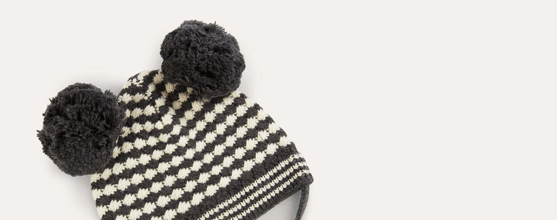 Grey The Bonnie Mob Chunky Knitted Hat