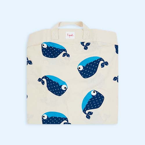 Whale 3 Sprouts Playmat Bag