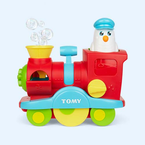 Red TOMY Bubble Blast Train
