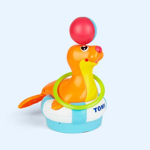 Orange TOMY Sandy the Sea Lion Bath Toy