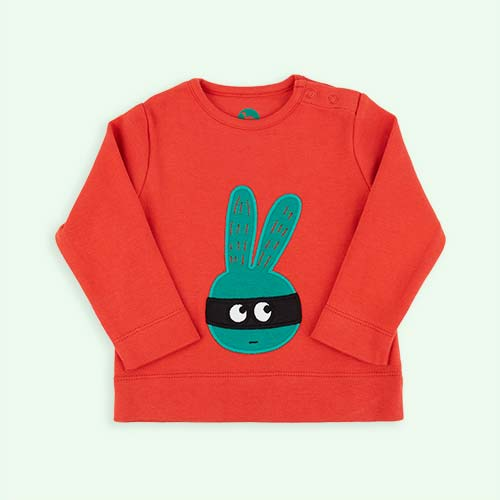 Red La Queue du Chat Masked Rabbit T-shirt