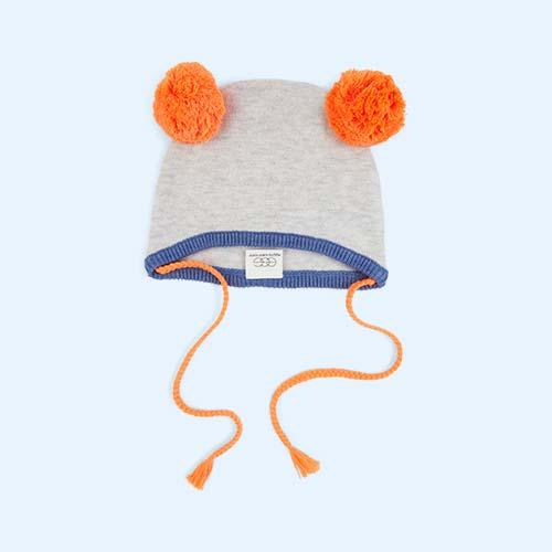 Orange Egg by Susan Lazar Pom Pom Hat
