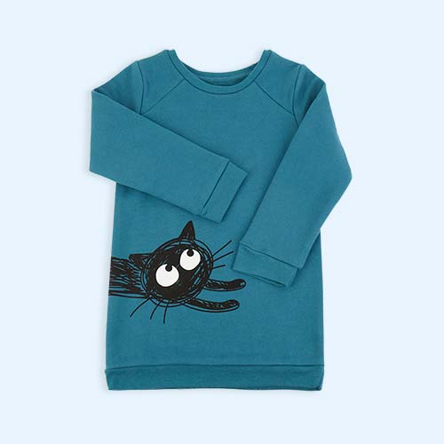 Deep Blue La Queue du Chat Deep Blue Sweatshirt Dress