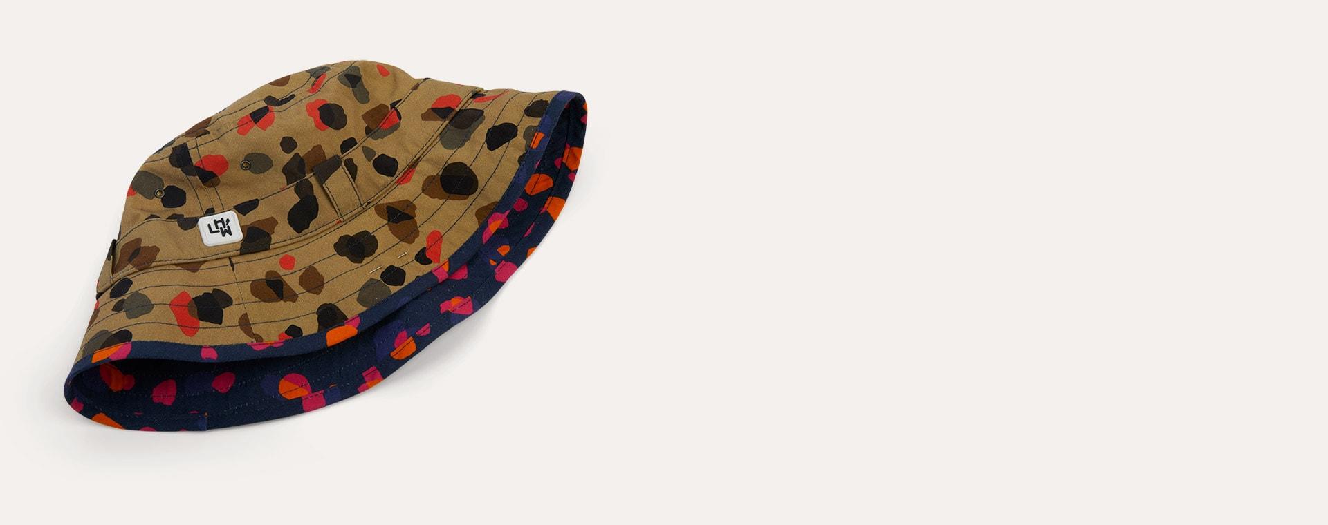 Leopard Neutral Little Hotdog Watson The Adventurer Bucket Hat
