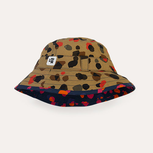 Leopard Neutral Little Hotdog Watson The Adventurer Bucket Hat