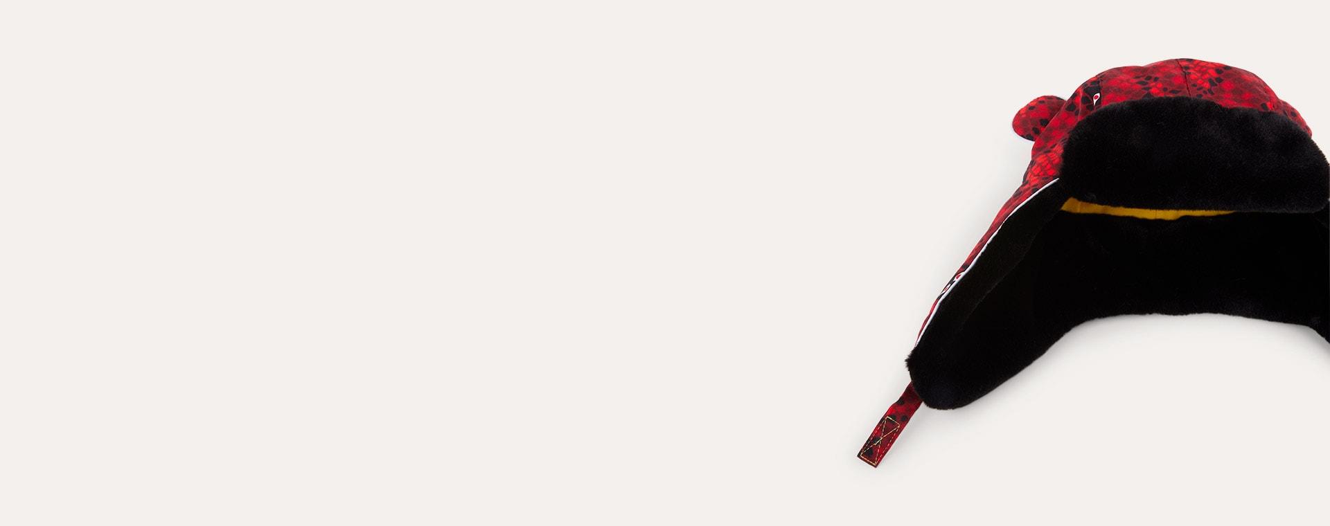 Snake Eyes Red and Black Print Little Hotdog Watson The Arctic Cub Hat