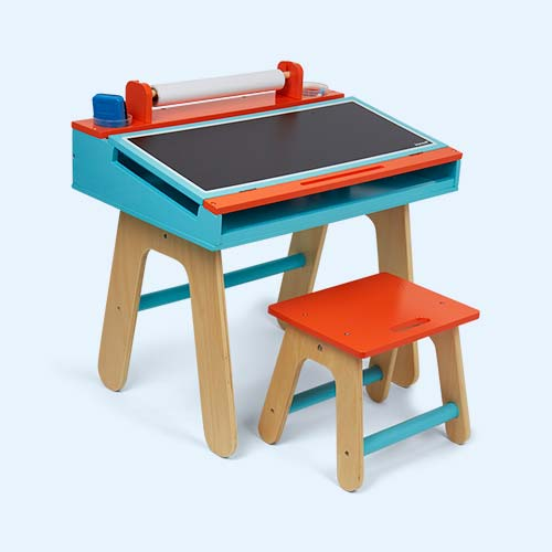 Orange Janod Desk & Stool