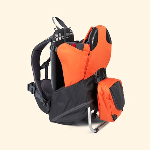 Orange Grey phil&teds Parade Back Carrier