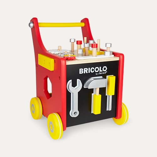 Red Janod Magnetic Tool Trolley