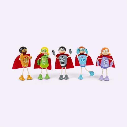 Multi Tidlo Superheroes Play Set