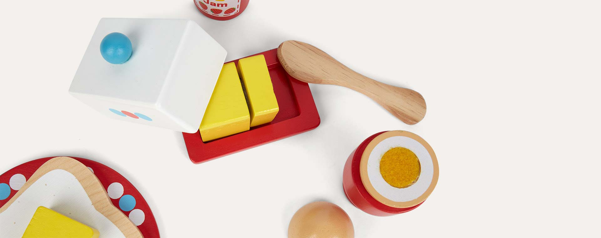 Multi Bigjigs Breakfast Time Play Set