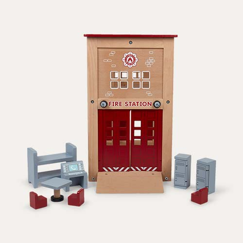 Red Tidlo Fire Station & Accessory Set
