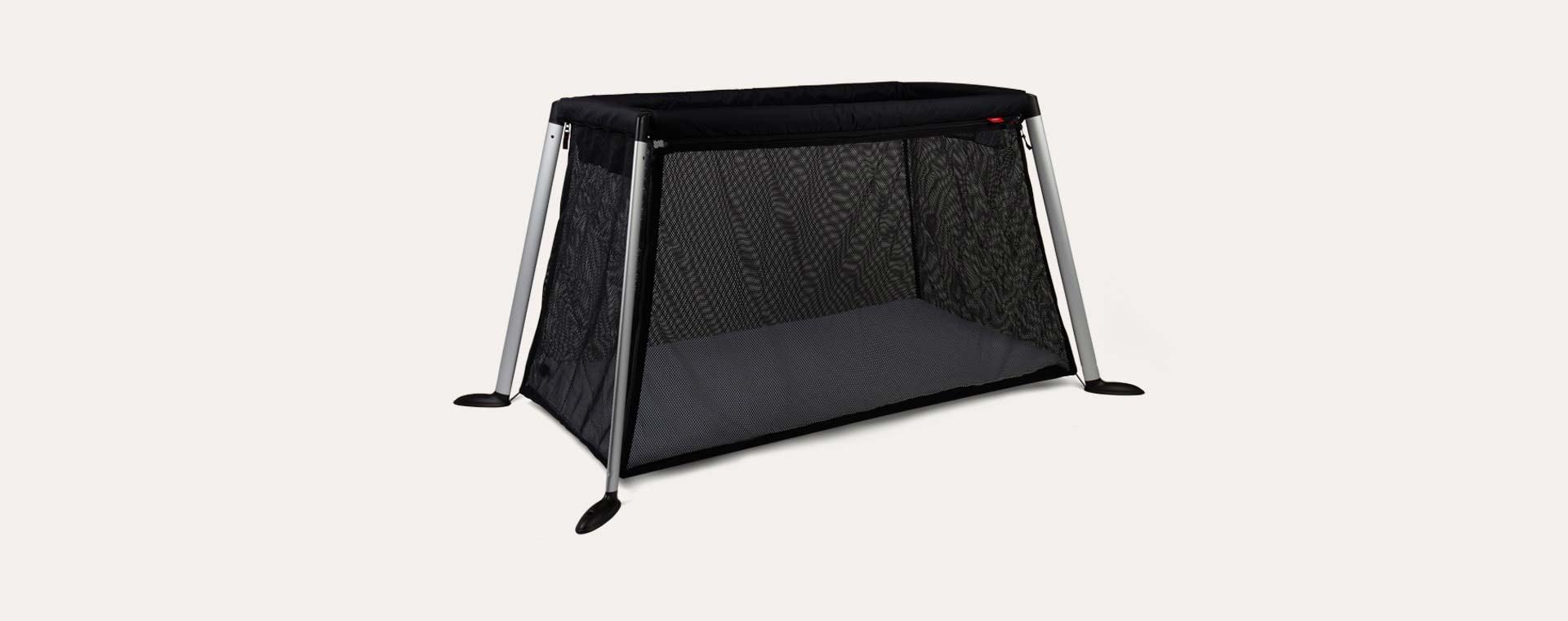 Black phil&teds Traveller Travel Cot