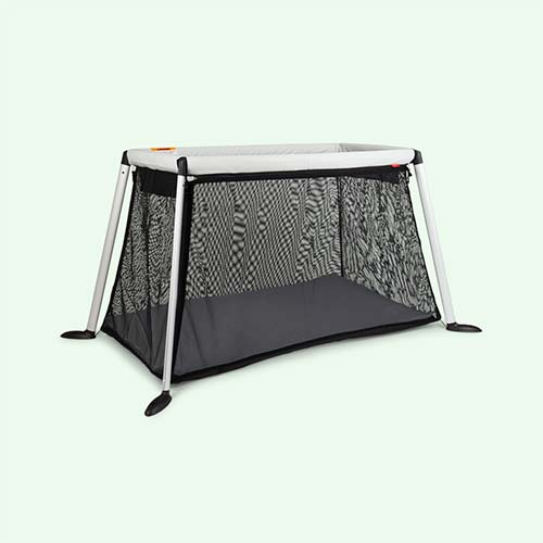 Silver phil&teds Traveller Travel Cot