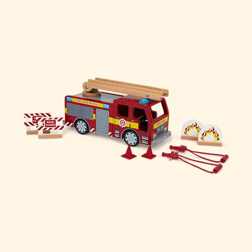 Red Tidlo Fire Engine & Accessory Set