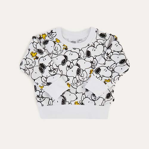 White tobias & the bear Snoopy & Woodstock Light Sweatshirt