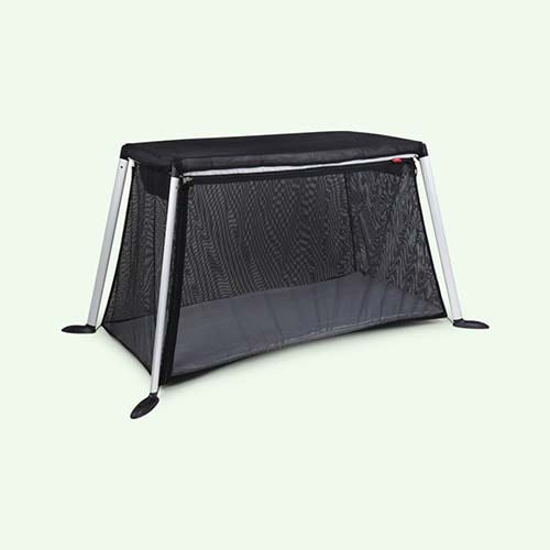 Black phil&teds Traveller Travel Cot Sun Cover