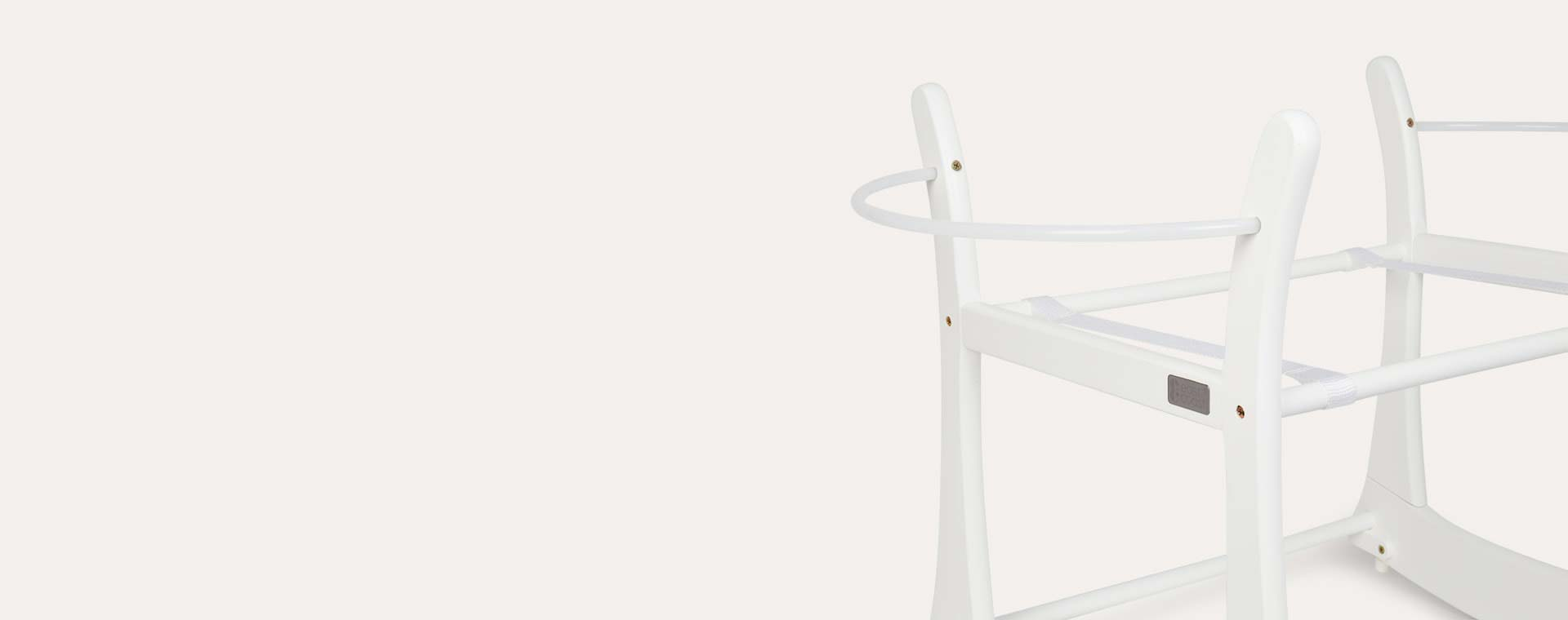 White East Coast Nursery Rocking Moses Basket Stand