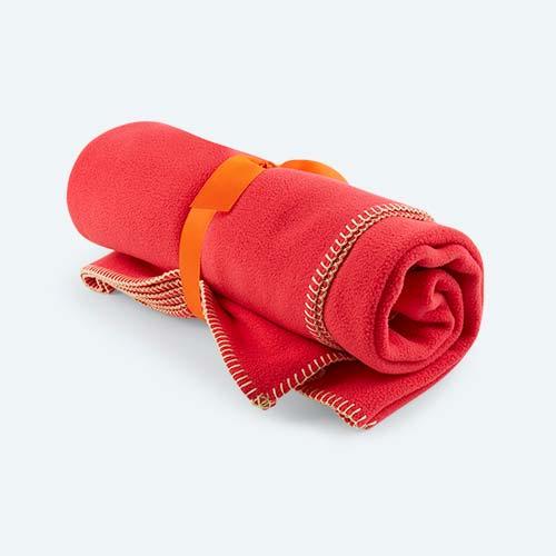 Pink KIDLY Home Fleece Blanket